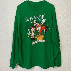 Disney Parks Long Sleeve Mickey Goofy Christmas T